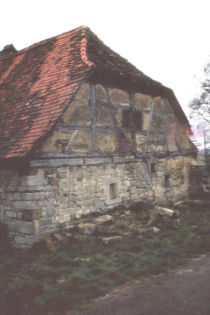 Schäferhaus (Nordseite) vor der Restaurierung